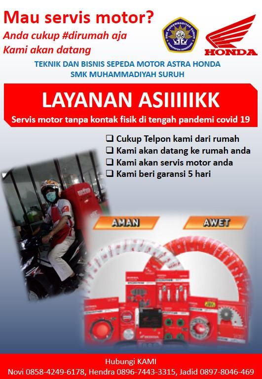 Teaching Factory TBSM Astra Honda SMK Muhammadiyah Suruh